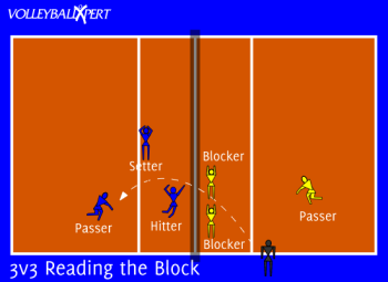 Volleyball 3v3 Drill - Reading the Block